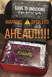 OwlCrate World of Caraval Special Edition Unboxing