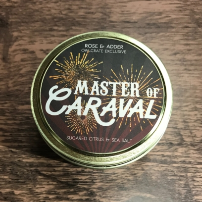 Master of Caraval candle Rose and Adder Owlcrate