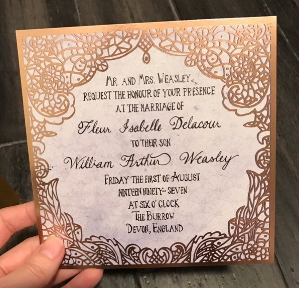 Litjoy Harry Potter Magical Edition Crate wedding invite